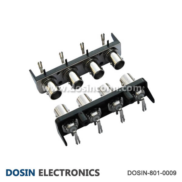 BNC 90 Connector Degree 1X4 Female in One Row for PCB Mount