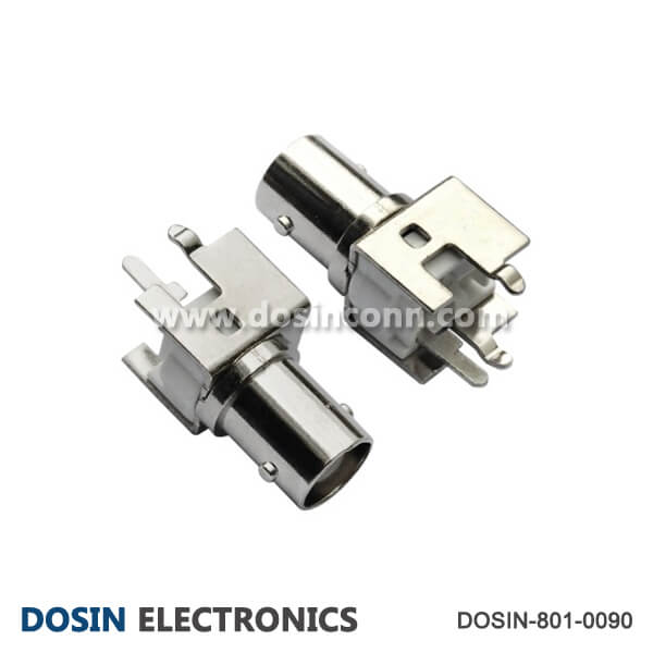 BNC Connector to TV 180 Degree Jack for PCB Mount