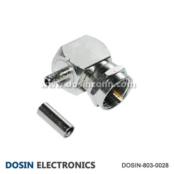 Best F Plug Connector Angled Crimp Type for RG179