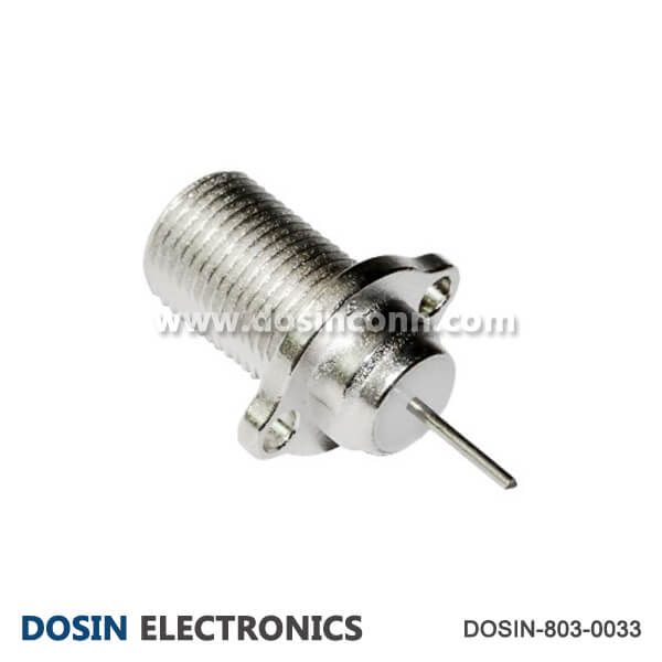 F Connector 75 Ohm Straight Coaxial Female for Cable