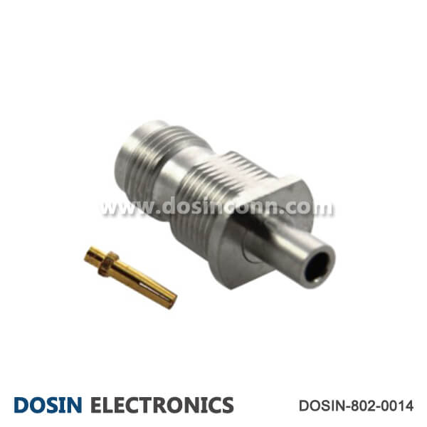 TNC Straight Connector Bulkhead Female RF Coaxial for Cable