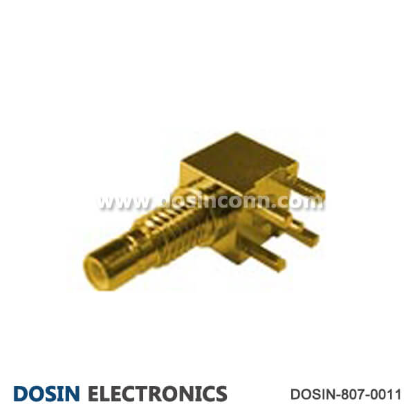 Right Angle SMB Connector RF Coaxial Female for PCB