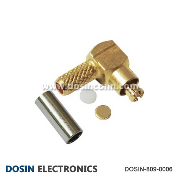 MMCX Connector RF Coaxial Angled Crimp Type for Cable