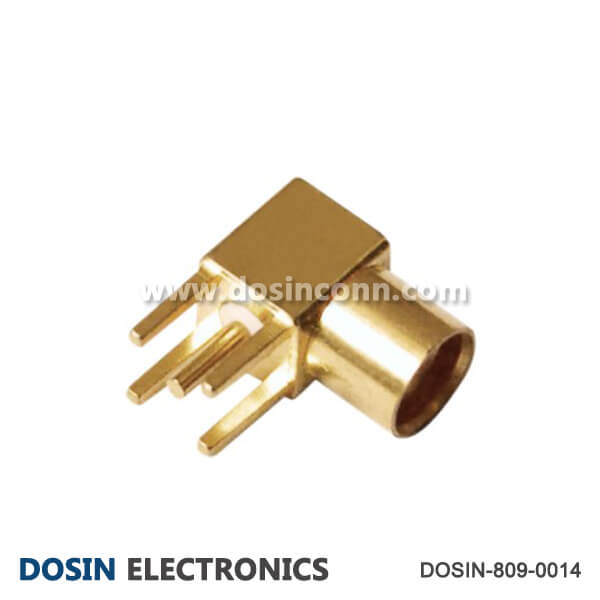 MCX Connector Jack RF Coaxial Angled for PCB Mount
