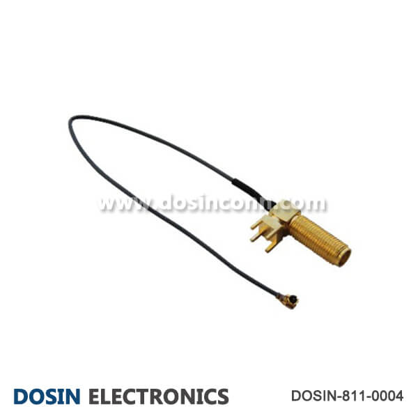 SMA PCB Cable Assembly Angled bulkhead to IPEX Pigtail