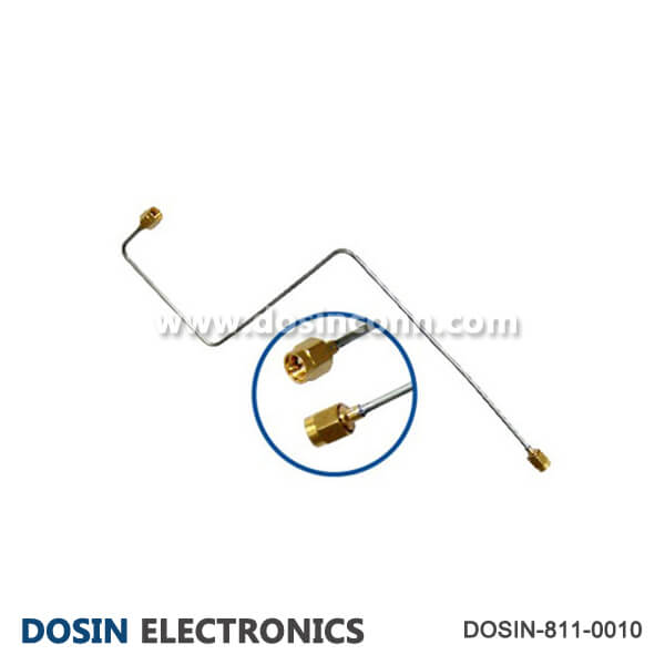 SMA Male to Male Cable Assembly with Semi-Rigid Cable
