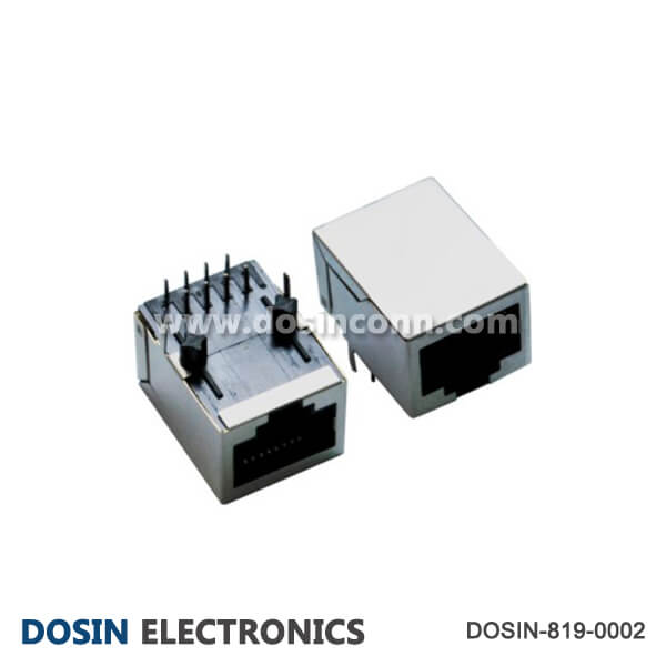 RJ45 Connector PCB Mount Shield Outlet 90 Degree for Network