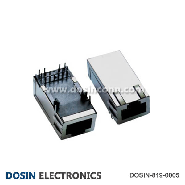 Fast Board Mount RJ45 Connector Shield with EMI 1.3 inch