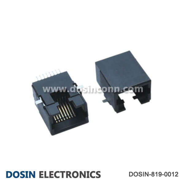 RJ45 Connector Jack unshield for PCB with Sold Pad