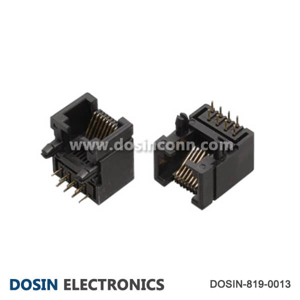 90 Degree RJ45 Connector Ethernet 8P8C Unshield
