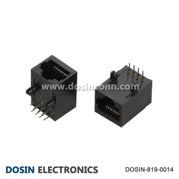RJ45 Female Connector 8P8C Plastic Angled