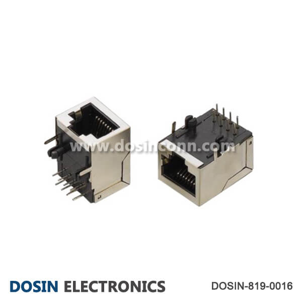 RJ45 Connector Socket Shield 8P8C 90° for Ethernet