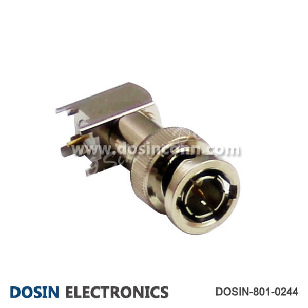 BNC Male PCB Mount Right Angled RF Coax Connector