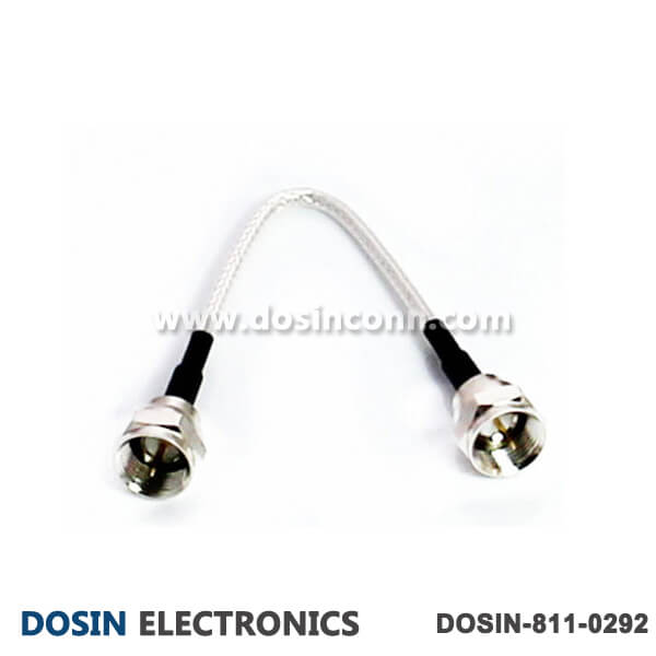 F Type Male to Male Cable for RF Coax Cable