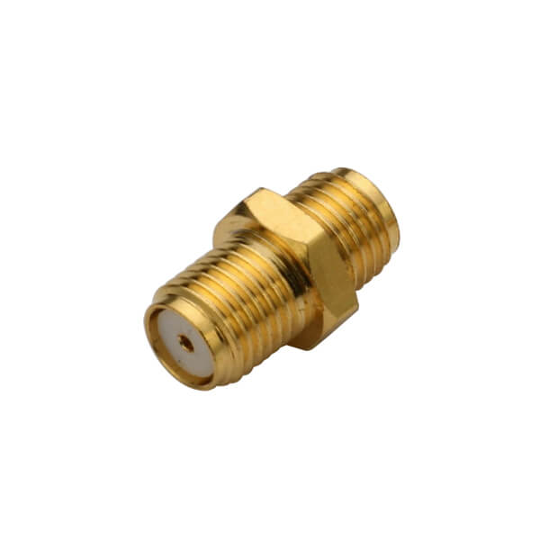 SMA Gold Plated Straight Bulkhead Jack Connector for Panel Mount