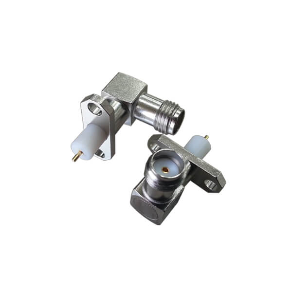 SMA Connector Panel Mount 90 Degree Jack with PTFE Stainless Steel SMA