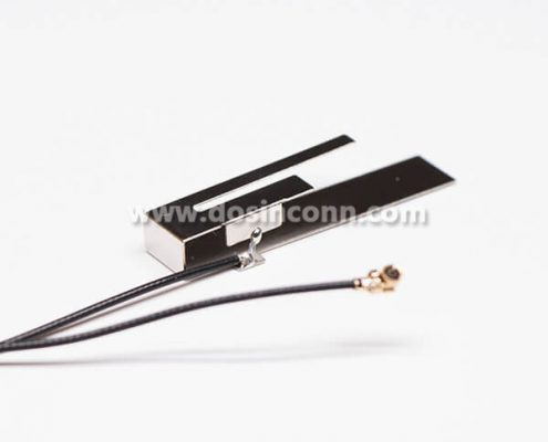 Antenna For 4G lTE Dual Band 2.4 & 5G Stainless Steel RF1.13 Black With IPEX