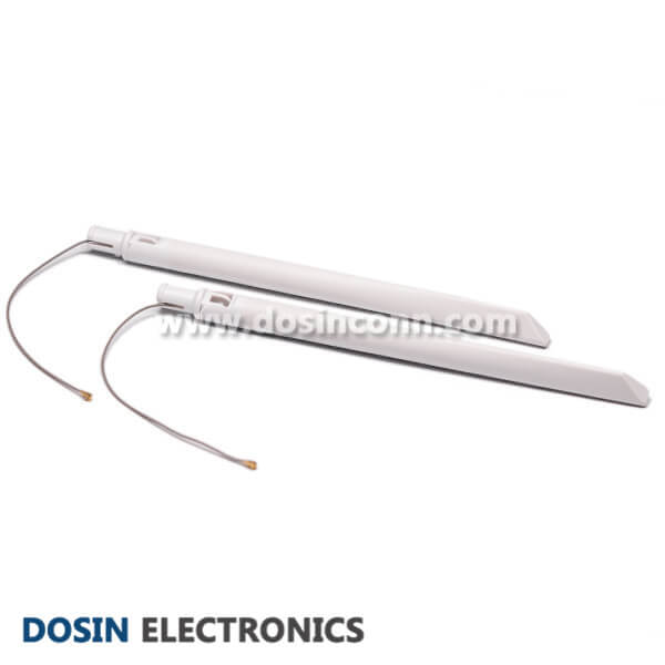 2.4G External Antenna White Rubber 5dBi Wireless With IPEX Cable