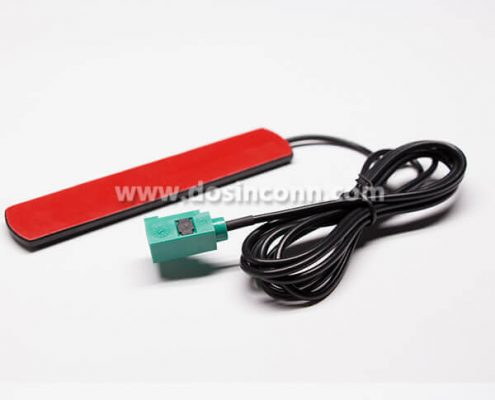 900/1800 MHz Patch Antenna Black Solder Type for RG174 FAKRA Connector