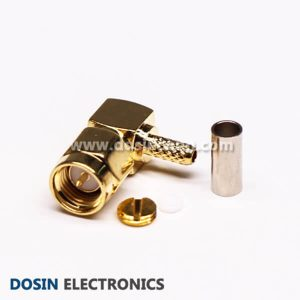 SMA Crimp Plug Connector Right Angled Crimp Type for Coaxial Cable