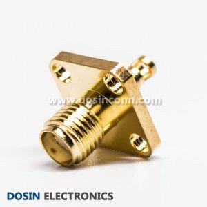SMA Female 4 Holes Flange Connector for Panel Mount