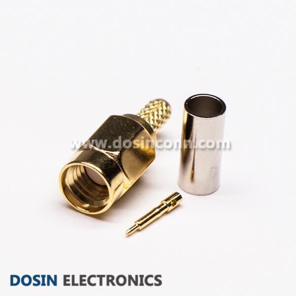 SSMA Connector for Semi Cable Male Crimp Type