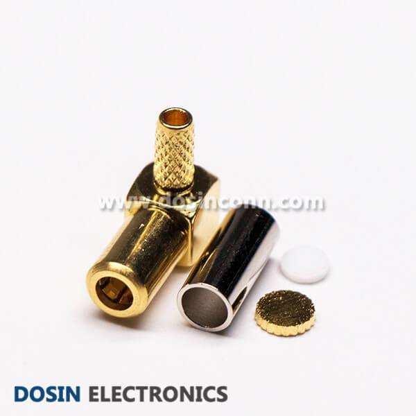 SSMB Connector Right Angle Plug Crimp for RG174 RG316