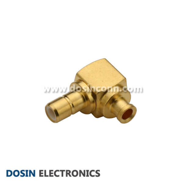 SMB Connector Right Anlge Solder Type Female for Coax Cable UT085