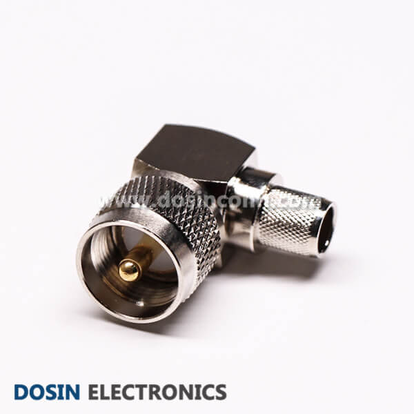 PL259 UHF Male Connector Right Angled Crimp Type for Cable