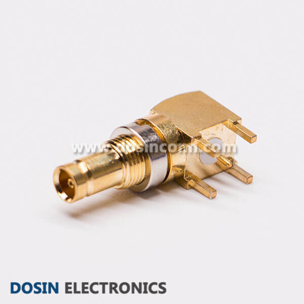 Right Angle DIN 1.0/2.3 Female Connector for PCB Mount