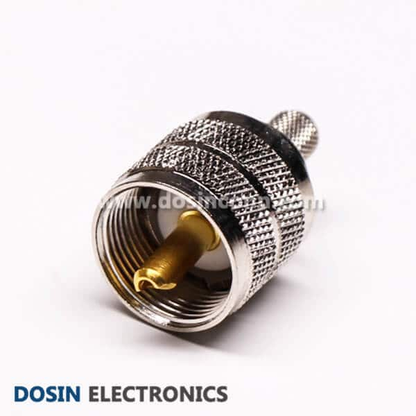 UHF RF Connector 180 Degree Male Crimp Type for Cable RG59
