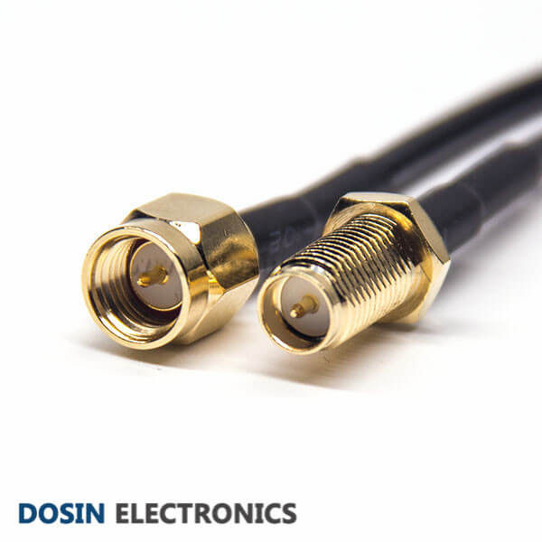 SMA Male to RP SMA Female Cable 180 Degree RF Coaxial Cable