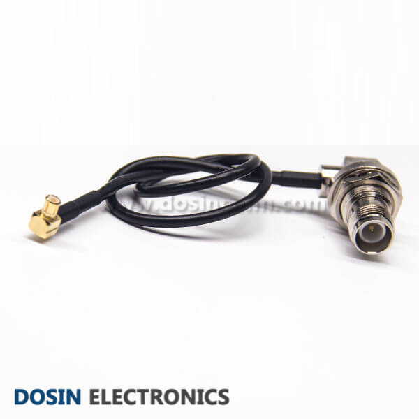 RF Coax Cable Assemblies TNC Female Angled Blukhead to MCX Right Angle Male
