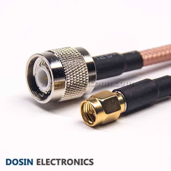 Male to Male Coaxial Cable Connector Straight SMA to Straight TNC for RG142 Cable