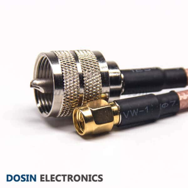 UHF to SMA Cable for RG142 Cable Assembly Male to Male