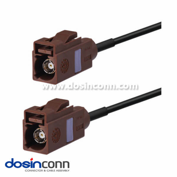 Fakra Antenna Connectors F Type Brown Female to Female Pigtail Cable Car Extension Cable 2m