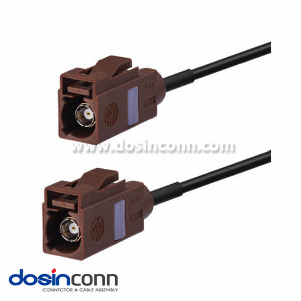 Antenna of car Extension Cable Fakra F Brown Female to Female Pigtail Cable 50cm