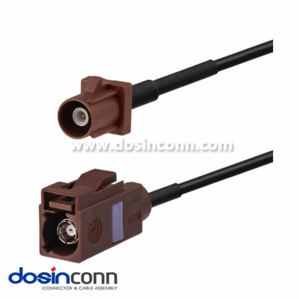 Fakra Antenna Adapter F Type Brown Male to Female Pigtail CableCar Antenna Extension Cable 1m
