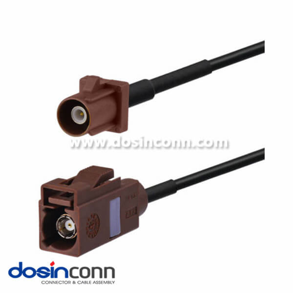 Fakra Car Antenna Extension Cable F Type Brown Male to Female Pigtail Cable 3m