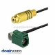 Antenna Extension Cable for Car Fakra F Brown Male to Female Pigtail Cable 2m