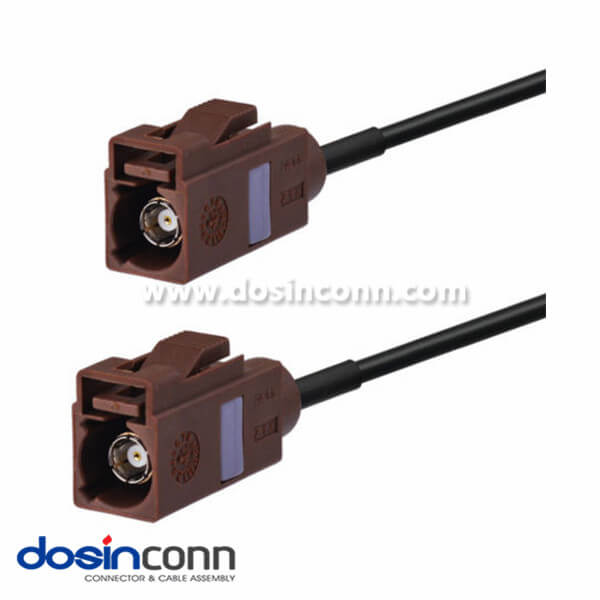 Fakra Female to Female Car Antenna Extension Cable,Fakra F Brown Pigtail Cable 3m