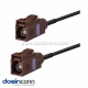 Fakra Connector F Type Brown Female to Female Pigtail Cable Car Antenna Extension Cable 20 Feet