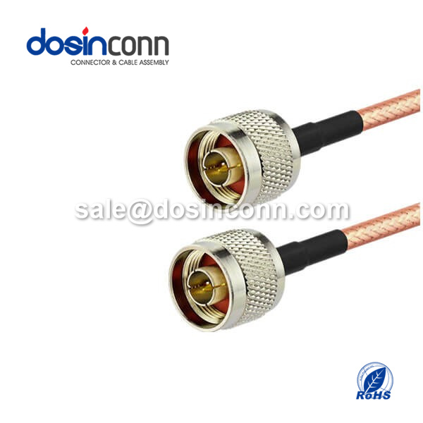 RF Coaxial Cable, N Straight Male, N Straight Male, RG400 Cable Assembly